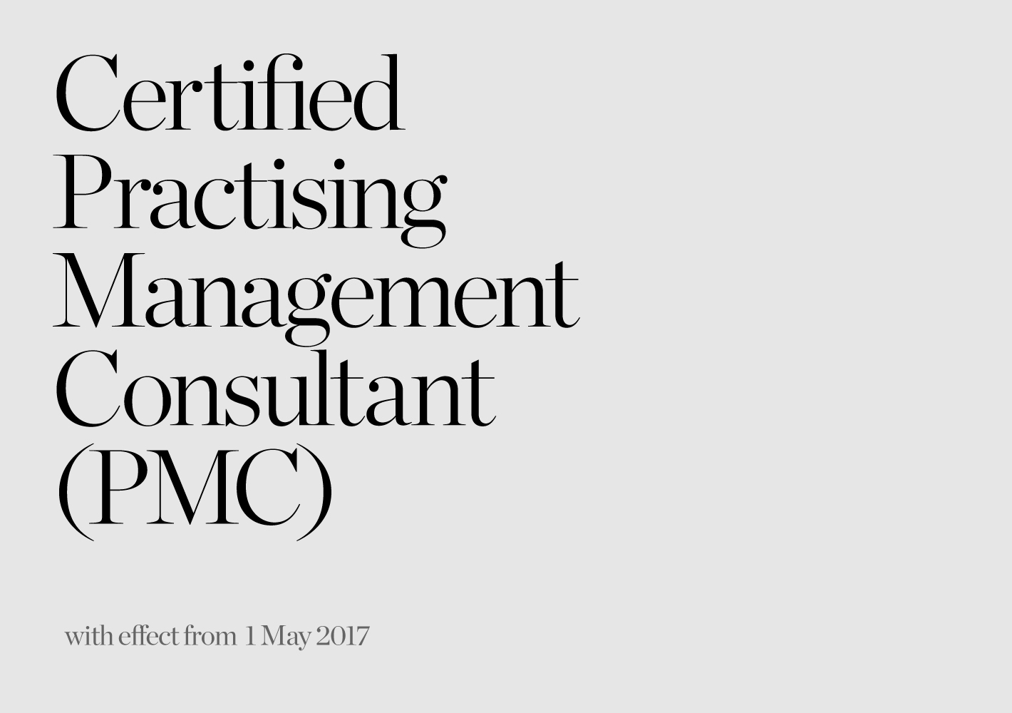 Certified Practising Management Consultant Pmc News Larry